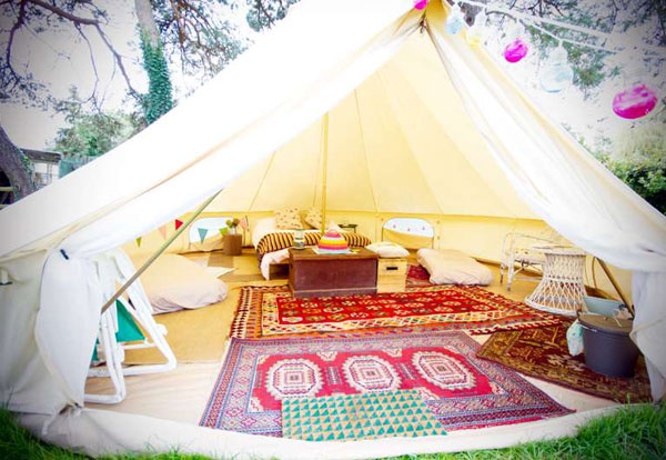 Bell tent glamping in the New Forest