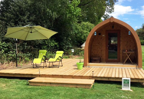 Dog friendly glamping park near Ringwood